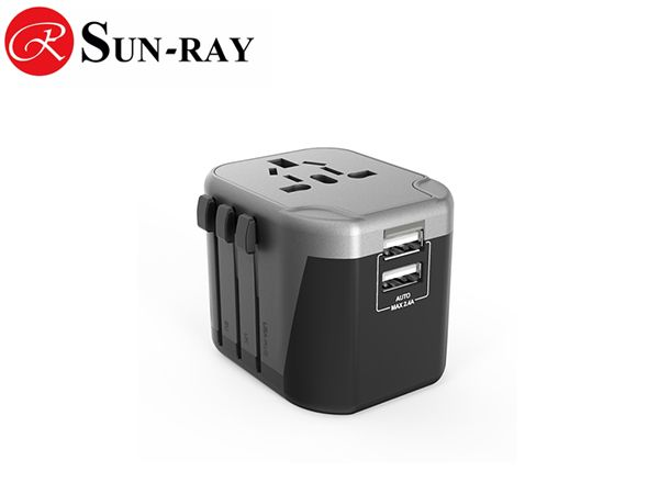 2019 New Dual Usb Travel Adapter 8A fuse